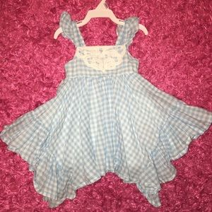 Blue and White Dorthy Check Plaid Dress / Costume